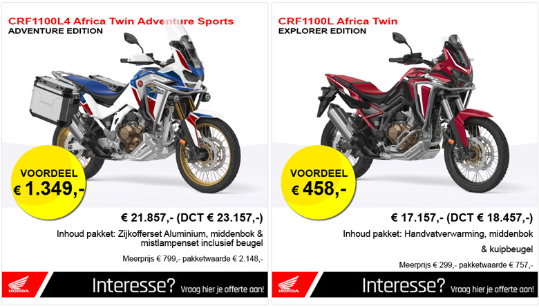 CRF1100 Special Editions